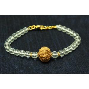 10 Mukhi Rakhi with Sphatik Beads and Panchdhatu accessories