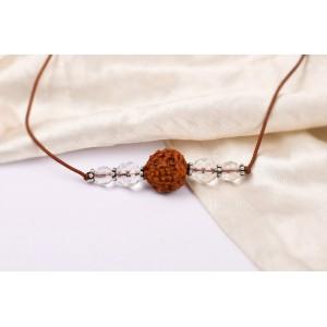5 Mukhi Rakhi Sphatik Beads with German silver accessories