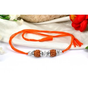 4 Mukhi Rakhi with pure silver accessories in a thread - III