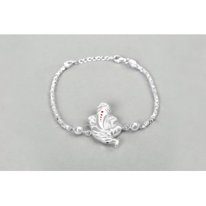 Ganesha Design Rakhi in pure silver