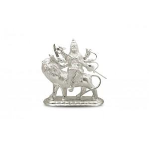 Shree Durga Idol in pure silver
