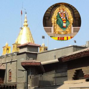 Puja at Sai Baba temple Shirdi