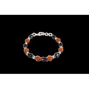 Rudraksha Garnet Bracelet