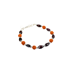 Rudraksha Garnet Bracelet - Design I