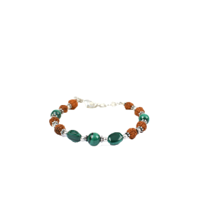 Rudraksha and Malachite Bracelet