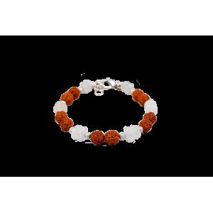Rudraksha Moonstone Bracelet