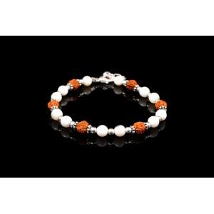 Rudraksha and Mother of Pearl Bracelets
