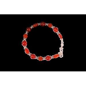 Rudraksha Carnelian Bracelet - Design III