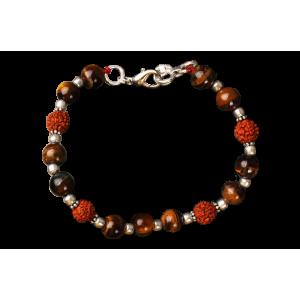 Rudraksha Tiger Eye Bracelet