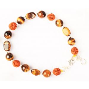 Rudraksha Tiger Eye Bracelet - I