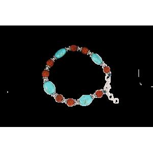 Turquoise Oval Bracelet - 7mm