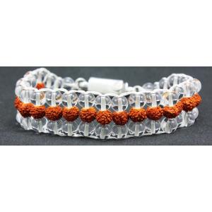 Crystal Rudraksha wrist Bracelet