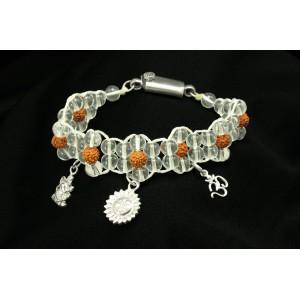 Sphatik Rudraksha Charm Bracelet