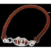 1 Mukhi Rudraksha Bracelet capped in pure silver from Indonesia/Java - Medium 11mm