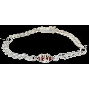 1 Mukhi Rudraksha Java Bracelet Thick Silver Chain 11mm