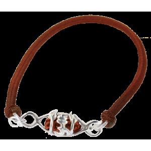 Ek Mukhi Rudraksha bead with OM Design from Indonesia/Java - Small 7mm