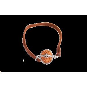 10 Mukhi Rudraksha Java Silver Capped Bracelet in Thread -13mm
