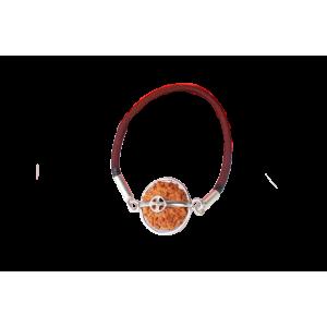 11 Mukhi Rudraksha Java Silver Capped Bracelet in Thread 12mm