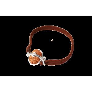 12 Mukhi Rudraksha Java Silver Capped Bracelet in Thread 12mm