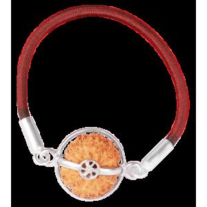 14 Mukhi Rudraksha Java/Indonesia  Silver Bracelet in Thread  15mm - 18mm