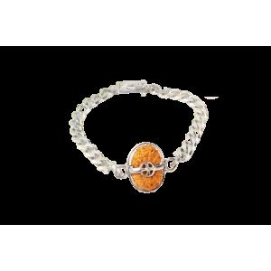 18 Mukhi Rudraksha Java/Indonesia  Silver Bracelet in Silver Chain 13mm