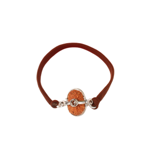 19 mukhi rudraksha Java/Indonesia Silver Capped Bracelet in Thread 12mm-15mm