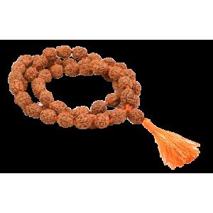 4 Mukhi Bramha Mala 54+1 Beads in Thread - 10mm