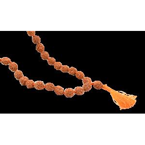4 Mukhi Bramha Mala 108 + 1 Beads in Thread - 10mm