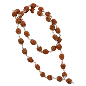 4 Mukhi Bramha Mala 36 + 1 Beads in Silver - 10mm
