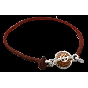 4 mukhi Rudraksha Java Indonesia Silver Bracelet in Thread Large - 15mm