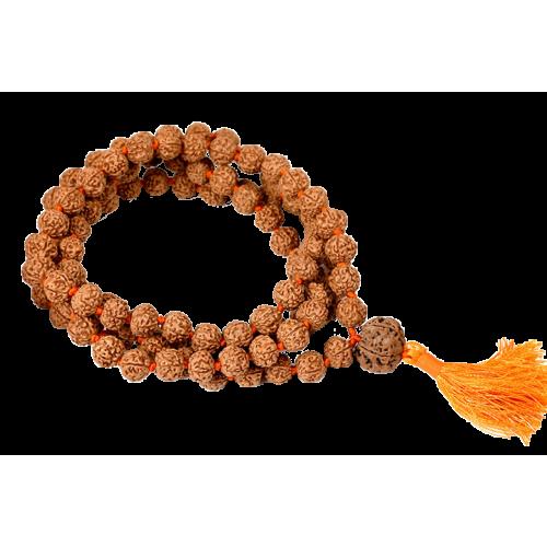 5 Mukhi Guru Mala 108 +1 Beads - 11mm