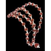 5 mukhi guru mala 54 +1 beads in silver - 12mm