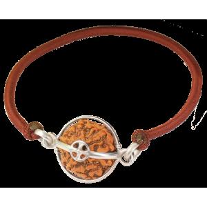 6 Mukhi Rudraksha Java Bracelet Capped in Silver - 10mm