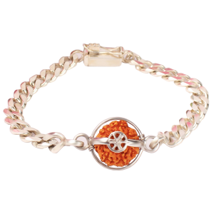 7 Mukhi Rudraksha Java with Thick Silver Chain Small 10mm