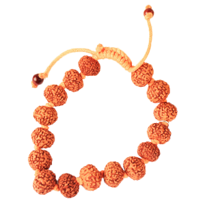 8 Mukhi Rudraksha Ganesha Bracelet in Thread - 13mm