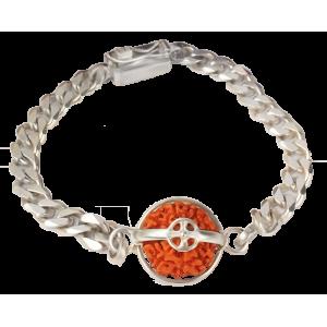 8 Mukhi Rudraksha Java Silver Bracelet in Silver Chain Small
