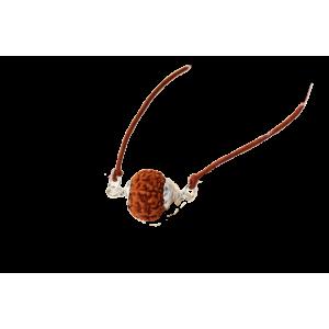 9 mukhi Rudraksha Java Silver Capped Pendant in Thread Small 13mm