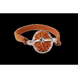 11 Mukhi Rudraksha Nepal Silver Capped Bracelet in Thread 22mm