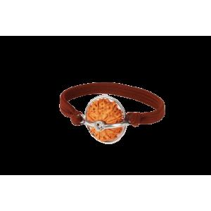 12 Mukhi Rudraksha Nepal Silver Capped Bracelet in Thread 21mm-23mm