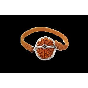14 Mukhi Rudraksha Nepal  Silver Bracelet in Thread  24mm-26mm