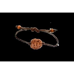 2 Mukhi Rudraksha Nepal Bracelet in Silk Thread 16mm