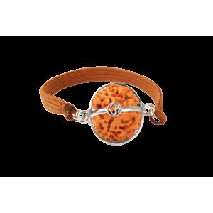 3 mukhi rudraksha nepal bracelet small - 15mm
