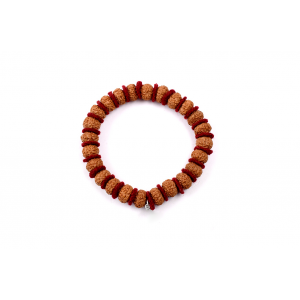 10 mukhi Narayan bracelet from Java in woolen spacers 10 mm
