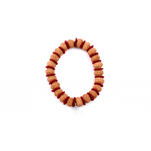 10 mukhi Narayan bracelet from Java in woolen spacers 11 mm
