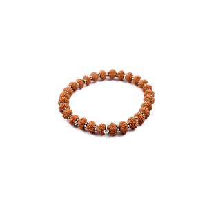10 mukhi Narayan bracelet from Java with silver chakri 8 mm