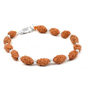 2 mukhi Moon bracelet from Java with silver balls