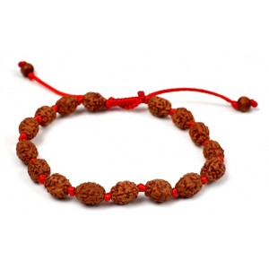 3 mukhi Agni bracelet from Java in silk thread - 10mm