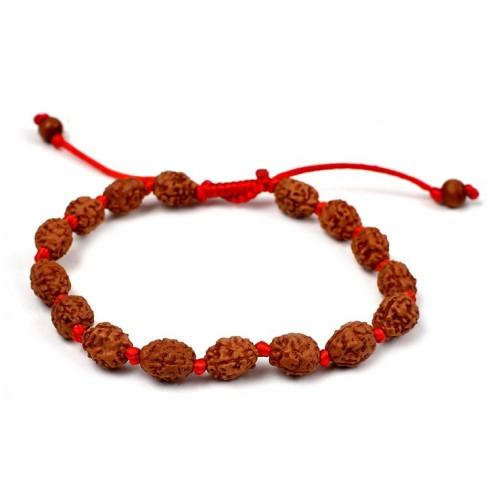 3 mukhi Agni bracelet from Java in silk thread - 10mm
