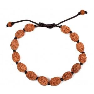 3 mukhi Agni bracelet from Java in silk thread - 13mm