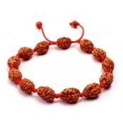 3 mukhi Agni bracelet from Java in silk thread - 14mm